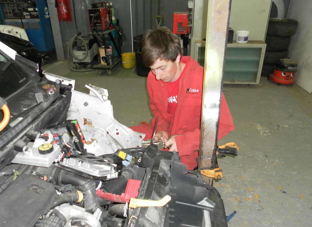 Apprentice Sam Hunnisett has just completed a four-year apprenticeship with Colas Mechanical Services in Ringmer.