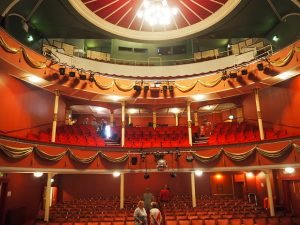 Inside the Hippodrome Theatre eastbourne.