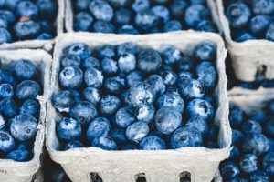 What's on in July - blueberries at a market