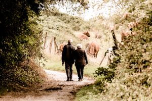 What's on this July - Older couple walking the South Downs