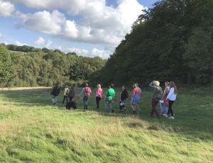 Walking group in the High Weald.