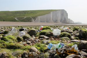 Plastic water bottles at Seven Sisters