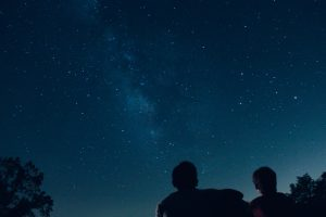 Person stargazing - what's on this November