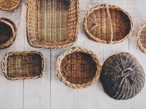 Clutter baskets.