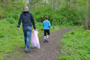 Litter pickers in East Sussex.