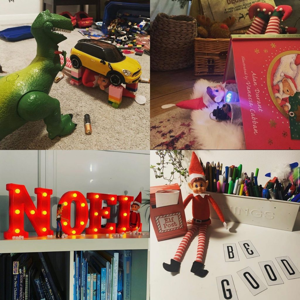 Elf on the Shelf getting up to mischief