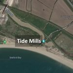 Map showing Tide Mills